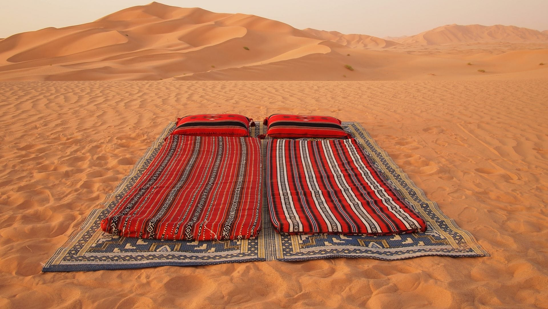 Sleeping on Desert Sand