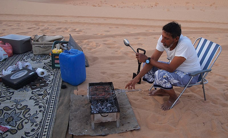 The Oman Empty Quarter - Rub' Al Khalif - bbq goat