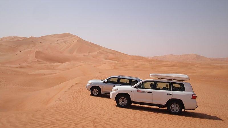 The Oman Empty Quarter - Rub' Al Khalif - Two Land Cruisers - one automatic, mine standard.