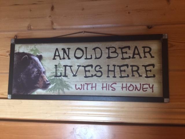 The old bear likes his honey