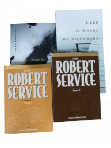 Yukon Poets - Book Covers for Robert Service and Clea Roberts