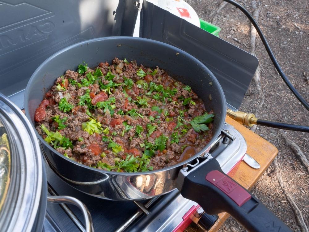Magma Pots Spaghetti sauce, Yukon style