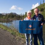 At the intersection of the Dempster Highway and Latitude 65 N