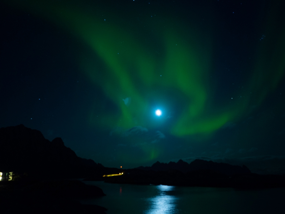 Aurora Borealis Around the Moon