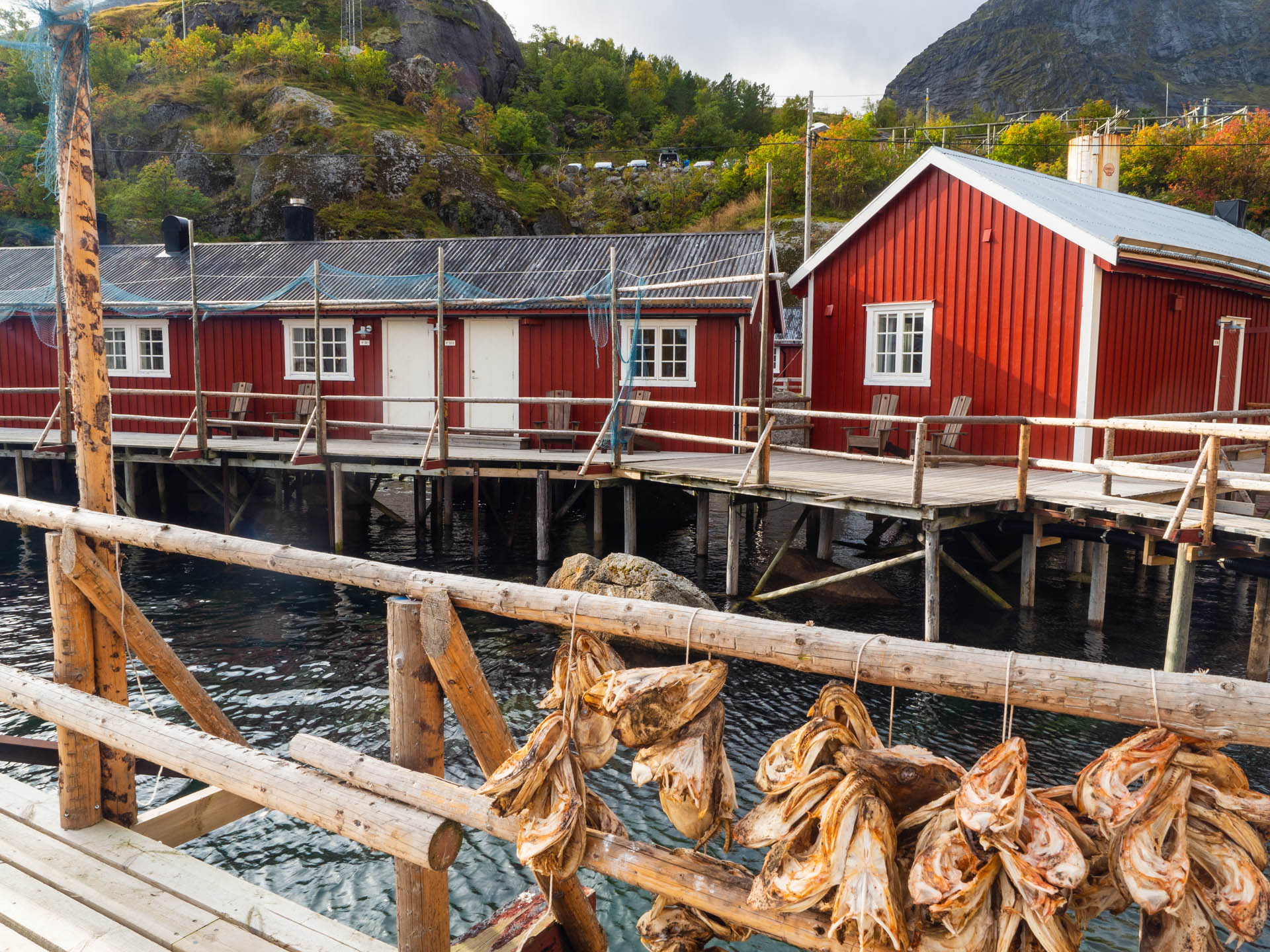 Nusfjord rorbuer (rowers' huts), now a typical form of accommodation on Lofoten