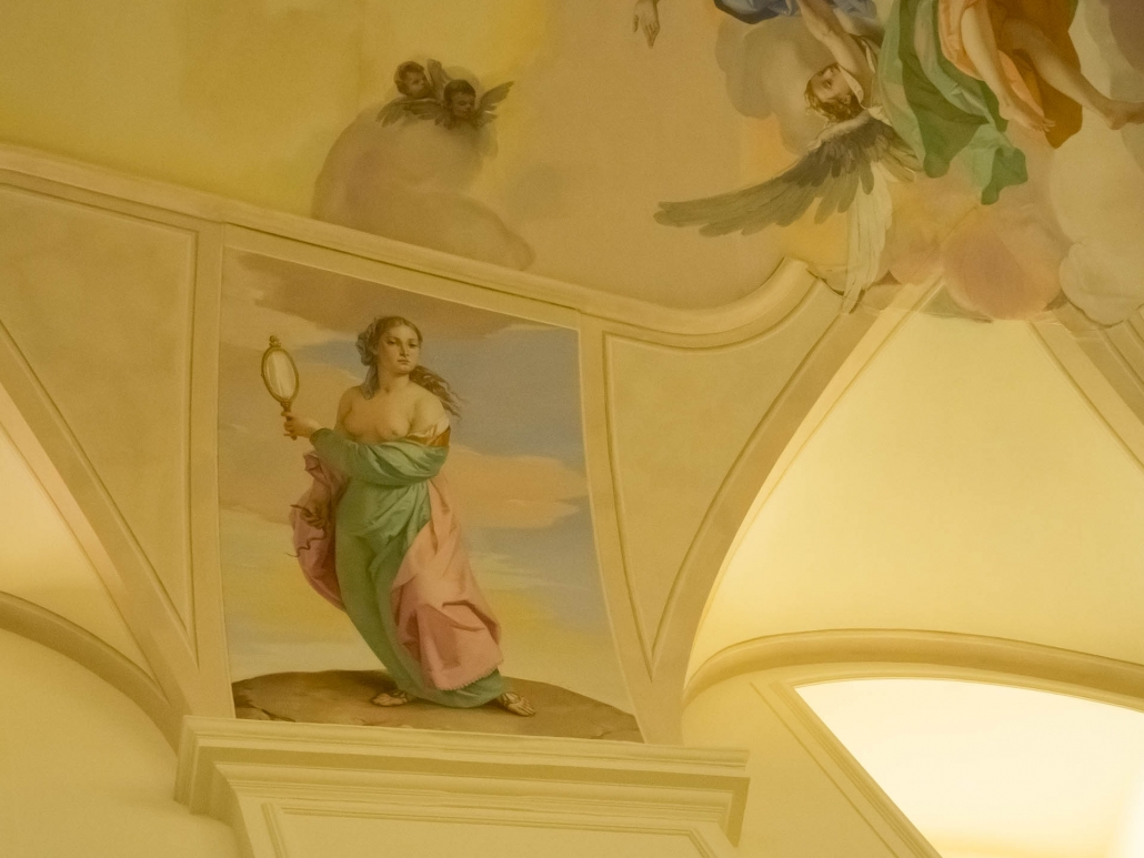 Noto Cathedral frescoes cameo delicacy in hues soft as pastels